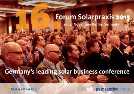 Forum Solarpraxis 2015