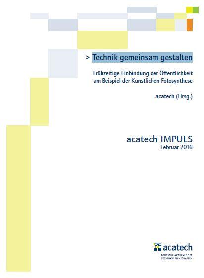 Technik gemeinsam gestalten - Titel - Bild © acatech
