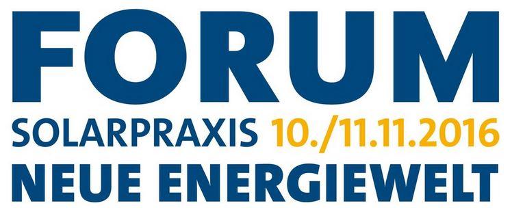 Solarpraxis Neue Energiewelt 2016 Logo